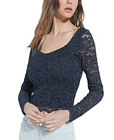 Selene Lace Scalloped-Hem Top