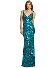 MAC DUGGAL Sequined Gown