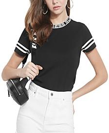 Cotton Logo-Neckline T-Shirt