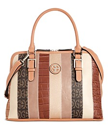 Patchwork Stripe Dome Satchel, Created For Macy's