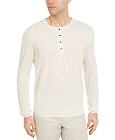 Men's Textured Henley Sweater, Created for Macy's