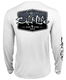 Men's Metal Scales UPF Performance Graphic Long Sleeve T-Shirt