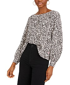 Lily Geo-Print Woven Top