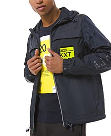 Men's Kors X Tech Packable Hooded Jacket