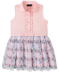 Toddler Girls Mesh-Skirt Shirtdress