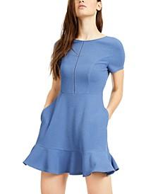 Juniors' Ruffled A-Line Dress