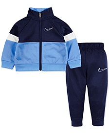 Toddler Boys 2-Piece Colorblocked Jacket and Pants Track Suit Set