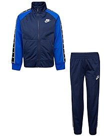 Little Boys 2-Piece Colorblocked Jacket and Pants Track Suit Set