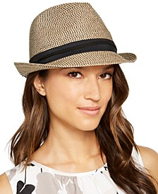 Classic Braid Fedora With Grosgrain Band