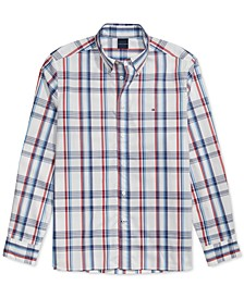 Men's Sadler Custom-Fit Plaid Shirt with Magnetic Buttons