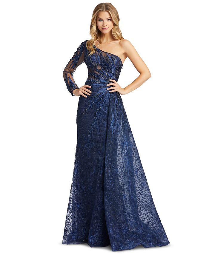 MAC DUGGAL - Embellished One-Shoulder Gown