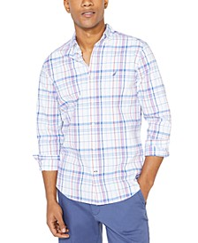 Men's Classic-Fit Performance Stretch Navtech Plaid Shirt