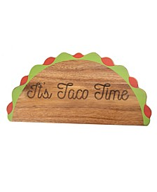 """CLOSEOUT! """"Its Taco Time"""" Wood Serve Board"""