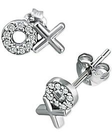 Cubic Zirconia XO Stud Earrings in Sterling Silver, Created for Macy's