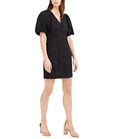 INC Puff-Sleeve Eyelet Dress, Created for Macy's