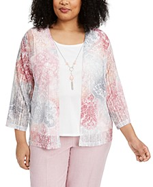 Plus Size Primrose Garden Layered Top