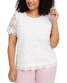 Plus Size Primrose Garden Lace Top