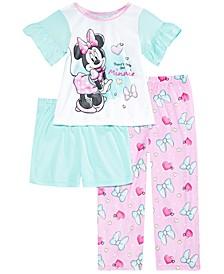 Toddler Girls 3-Pc. Minnie Mouse Pajama Set