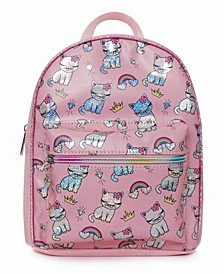 Toddler, Little and Big Kids Bella The Kitty Bling Print Mini Backpack
