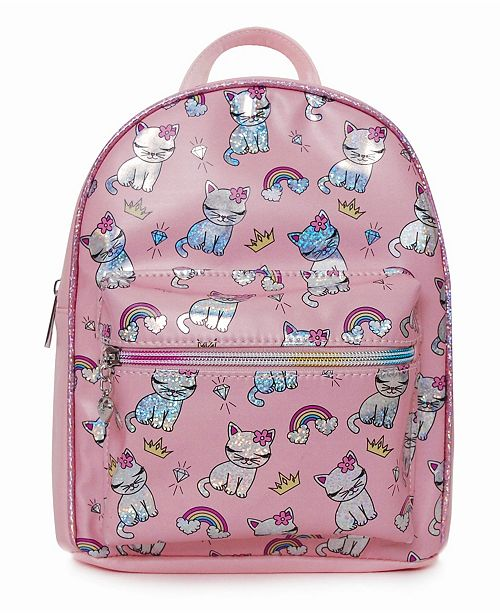 OMG! Accessories Toddler, Little and Big Kids Bella The Kitty Bling Print Mini Backpack