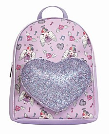 Toddler, Little and Big Kids Angelina Printed Mini Backpack with Glitter Heart Pocket