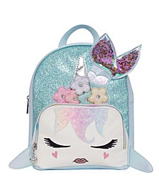 Toddler, Little and Big Kids Mermaid Gisel Glitter Mini Backpack
