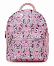 Toddler, Little and Big Kids Hologram Winged Unicorn Mini Backpack