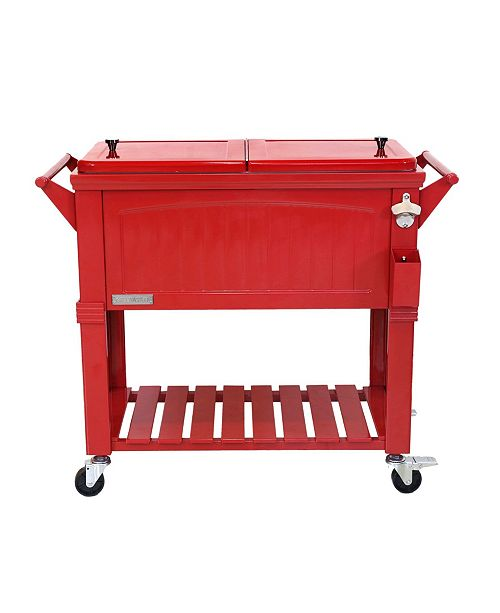 Permasteel 80 Qt. Rolling Patio Cooler, Furniture Style