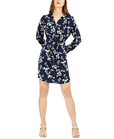 Floral-Print Belted Dress, Created for Macy's