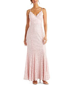 Juniors' Lace Gown