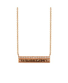 Chocolate Diamonds® (1/2 ct. t.w.) and Vanilla Diamonds® (1/8 ct. t.w.)  Necklace in 14k Rose Gold
