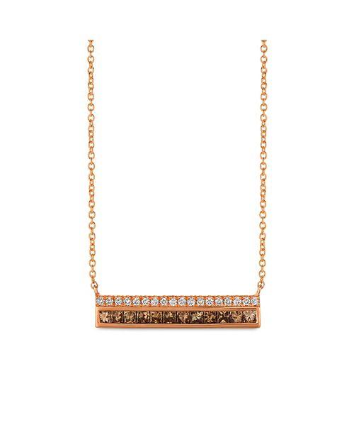 Le Vian Chocolate Diamonds® (1/2 ct. t.w.) and Vanilla Diamonds® (1/8 ct. t.w.)  Necklace in 14k Rose Gold
