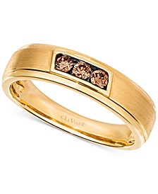 Chocolatier® Men's Diamond Band (1/4 ct. t.w.) in 14k Gold