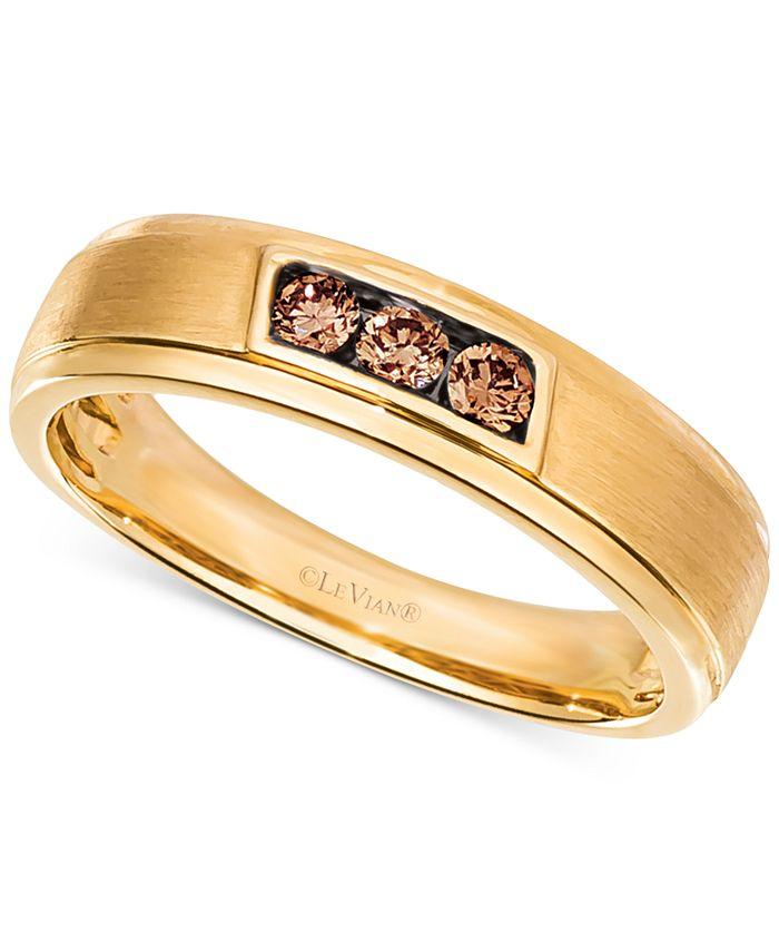 Le Vian - Men's Diamond Band (1/4 ct. t.w.) in 14k Gold