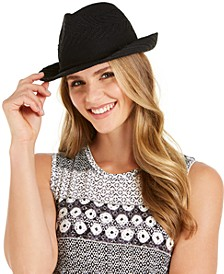 INC Packable Woven Fedora, Created for Macy's