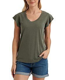 Lucky Brand Ruffle-Sleeve T-Shirt