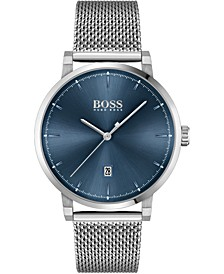 Men's Confidence Stainless Steel Mesh Bracelet Watch 42mm