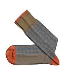 Diamond Pattern Grid Socks