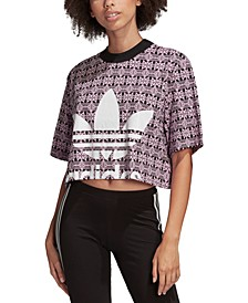 Women's Cotton Printed Cropped T-Shirt