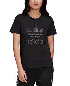 adidas Originals Women's Cotton Printed-Logo T-Shirt