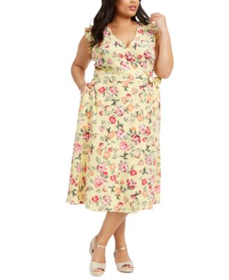 Mommy & Me Plus Size Floral-Print Wrap Dress, Created for Macy's