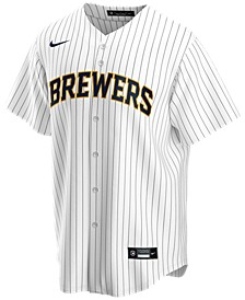 Men's Milwaukee Brewers Official Blank Replica Jersey