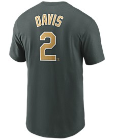 Men's Khris Davis Oakland Athletics Name and Number Player T-Shirt