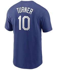 Men's Justin Turner Los Angeles Dodgers Name and Number Player T-Shirt