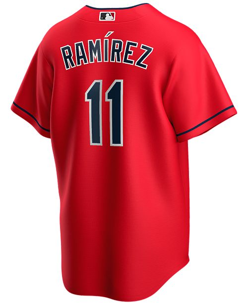 Nike Men's Jose Ramirez Cleveland Indians Official Player Replica Jersey