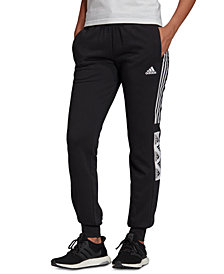 adidas Women's Essentials Block-Logo Sweatpants