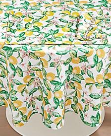 """CLOSEOUT! Limoncello Garden 70"""" Round Tablecloth"""