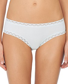 Bliss Lace-Trim Cotton Brief Underwear 156058