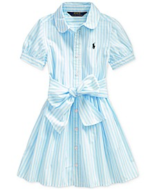 Toddler Girls Striped Cotton Shirtdress, Created for Macy's