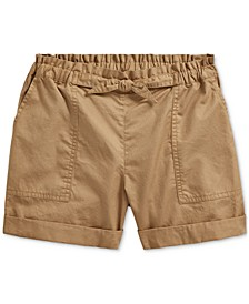 폴로 랄프로렌 걸즈 데님 반바지 Polo Ralph Lauren Big Girls Cotton Twill Camp Shorts,Boating Khaki